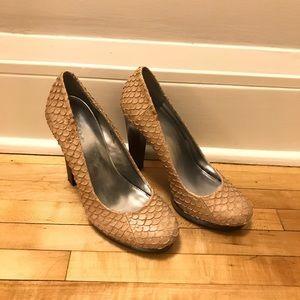 Calvin Klein fish scale heels